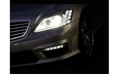 Дневные ходовые огни Mercedes S-class W221