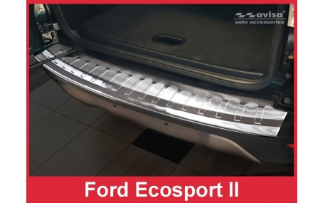 Накладка на задний бампер Ford EcoSport