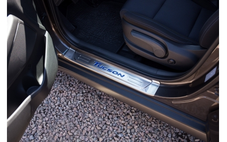 Накладки на пороги Hyundai Tucson