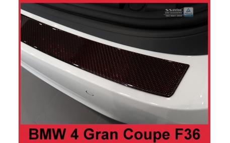 Накладка на задний бампер BMW F36