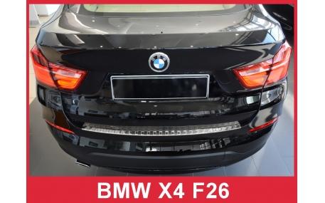 Накладка на задний бампер BMW X4