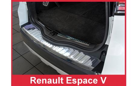 Накладка на задний бампер Renault Espace
