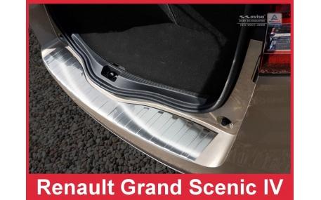 Накладка на задний бампер Renault Grand Scenic