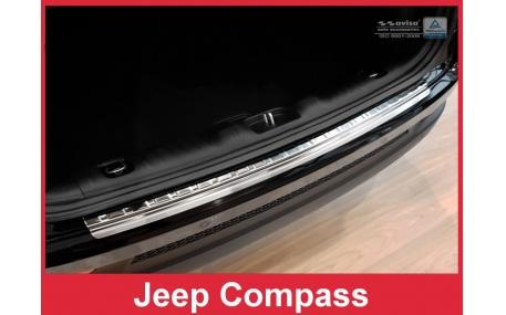 Накладка на задний бампер Jeep Compass