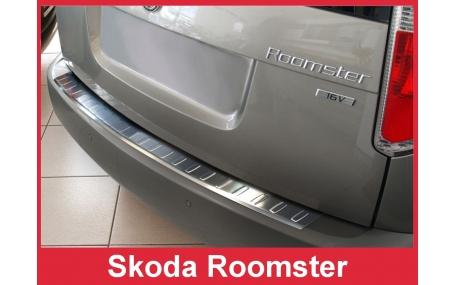 Накладка на задний бампер Skoda Roomster