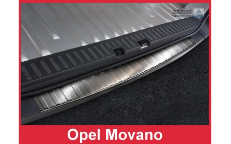 Накладка на задний бампер Opel Movano