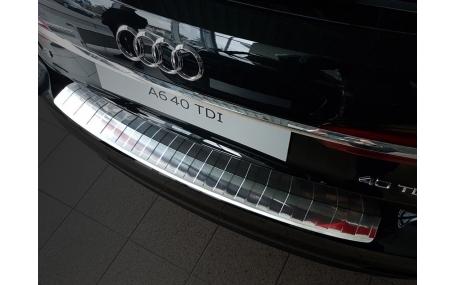 Накладка на задний бампер Audi A6 C8