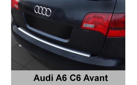 Накладка на задний бампер Audi A6 C6