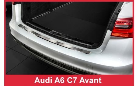 Накладка на задний бампер Audi A6 C7
