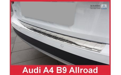 Накладка на задний бампер Audi A4 B9