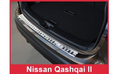 Накладка на задний бампер Nissan Qashqai J11