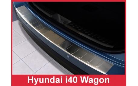 Накладка на задний бампер Hyundai i40