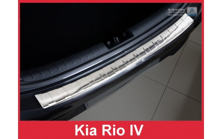 Накладка на задний бампер Kia Rio