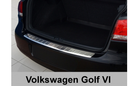 Накладка на задний бампер Volkswagen Golf 6