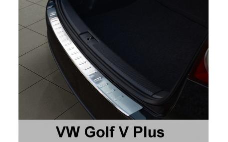 Накладка на задний бампер Volkswagen Golf 5 Plus