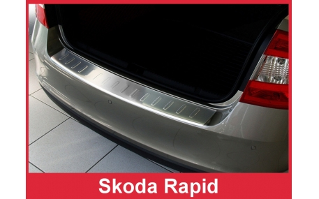 Накладка на задний бампер Skoda Rapid