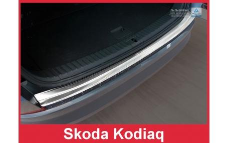 Накладка на задний бампер Skoda Kodiaq