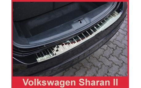 Накладка на задний бампер Volkswagen Sharan