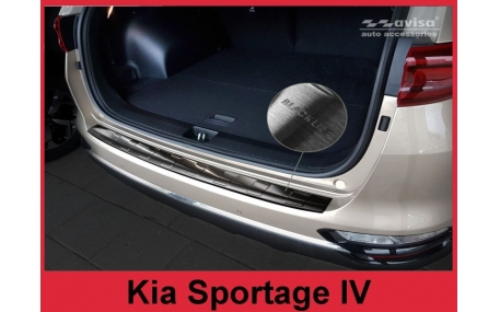 Накладка на задний бампер Kia Sportage