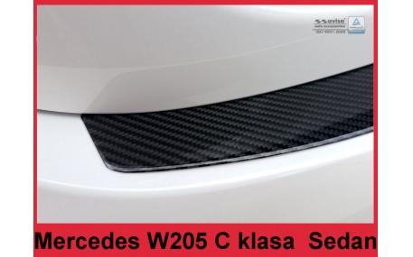 Накладка на задний бампер Mercedes C-class W205