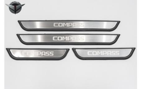 Накладки на пороги Jeep Compass