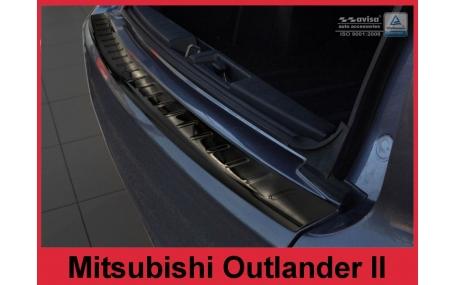 Накладка на задний бампер Mitsubishi Outlander XL