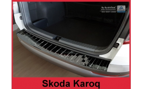 Накладка на задний бампер Skoda Karoq