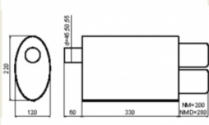 NM223 (1 вход - 2 выхода)