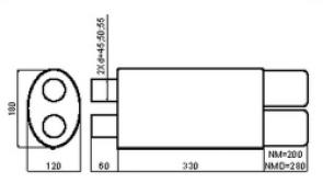 NM253 (2 входа - 2 выхода)