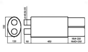 NM255 (2 входа - 2 выхода)