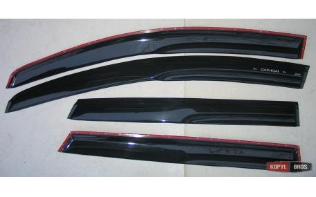 Дефлекторы окон Nissan Qashqai J10