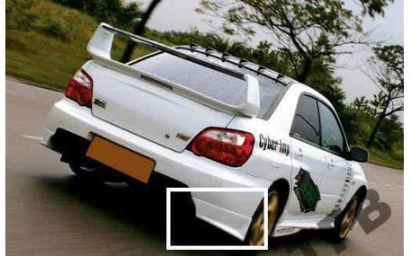 Накладка задняя Subaru Impreza