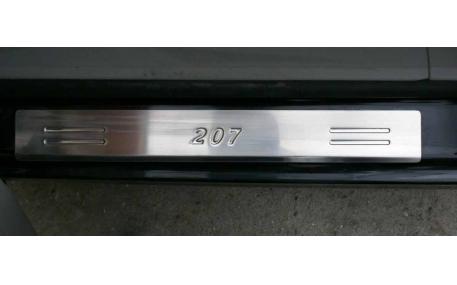 Накладки на пороги Peugeot 207
