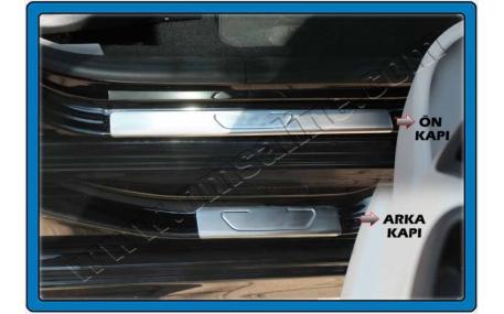 Накладки на пороги Peugeot 301