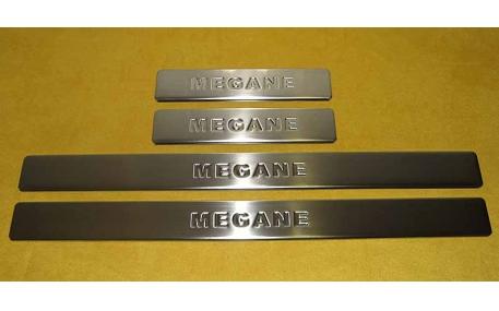 Накладки на пороги Renault Megane
