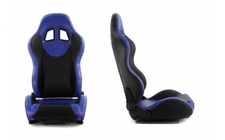 Сиденья MONZA+ BLUE кожа