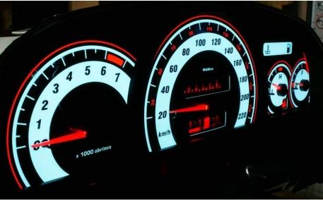 Шкалы приборов Opel Calibra