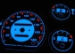 Шкалы приборов Daewoo Matiz