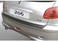 Накладка на задний бампер Peugeot 206