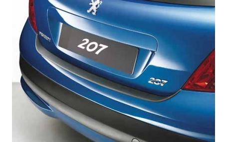 Накладка на задний бампер Peugeot 207