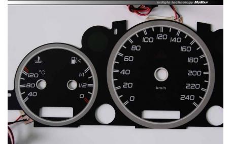 Шкалы приборов Mercedes ML-class W163