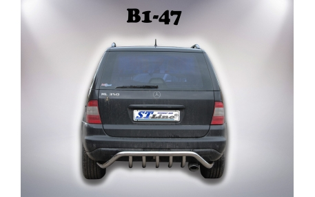 Защита задняя Mercedes ML-class W163