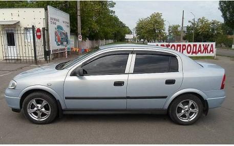 Дефлекторы окон Opel Astra G