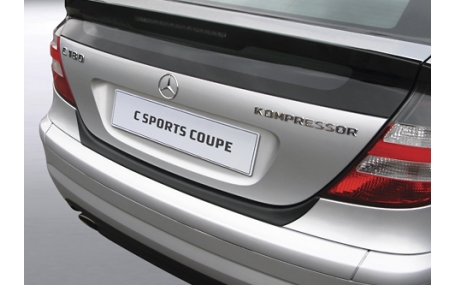 Накладка на задний бампер Mercedes C-class W203