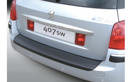 Накладка на задний бампер Peugeot 407 SW