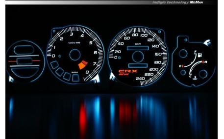 Шкалы приборов Honda CRX Del Sol