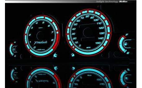 Шкалы приборов Honda Prelude