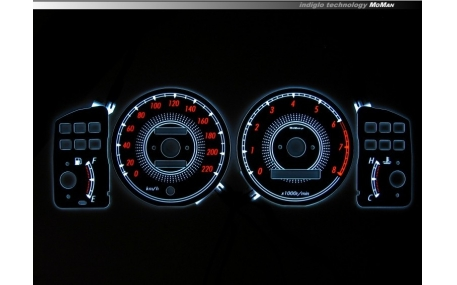 Шкалы приборов Toyota Corolla