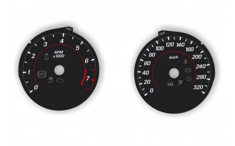 Кольца в щиток приборов Chevrolet Camaro