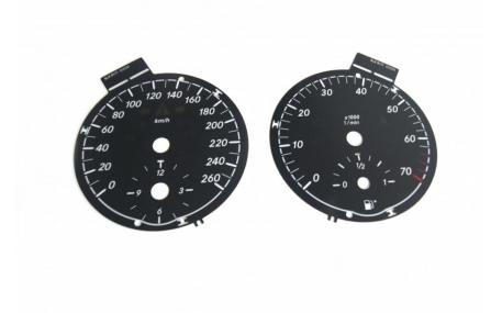 Шкалы приборов Mercedes SLK-class R171